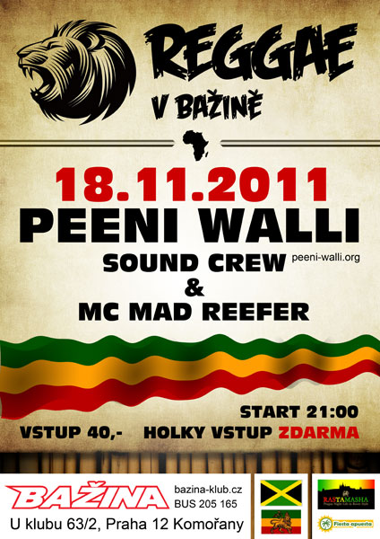 18. 11. - PW & MC Mad Reefah v klubu Bažina